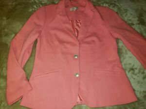 NEW TALBOTS WOMENS BLAZER JACKET PINK CORAL COLOR SIZE 12