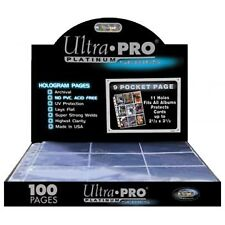 Ultra Pro Box Pack de 10 pages 9 Pochettes Platinum Series