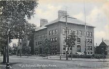 Malden Massachusetts~Big Chimneys on High School Across Street~1907 Kempton