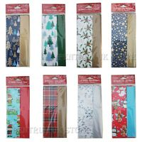 8 x Christmas Sheets Tissue Paper Acid Free Large Luxury Xmas Gift Wrap 50X70