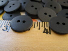 1 gross matte black 2H buttons 15MM 23L Plastic crafts clothes 144pcs bulk lots