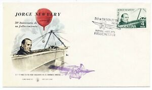 Argentina 1964 First Day Cover Newbery Aircraft Pilot #759 Buenos Aires Cachet