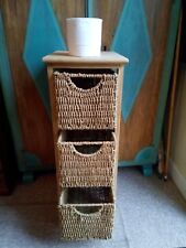 Set of baskets 3 drawers Used Storage Useful