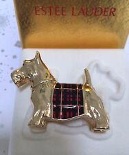 ESTEE LAUDER SCOTTIE DOG PUPPIE KNOWING SOLID PERFUME COMPACT in Orig. BOX RARE