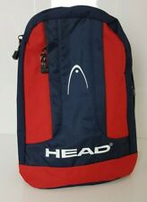 Vintage 1990's Head Backpack Rucksack Navy Blue / Red New Travel Bag Schoolbag