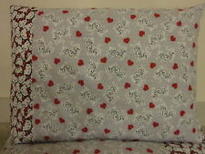 Crazy cat lady pattern 100% new Cotton handmade Pillowcase one pair