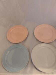"4 Vintage LU-RAY Pastel  7 1/4 "" Desert Plates LuRAY Dishes"