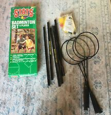 Vintage STATS for the Champions 4 Player Official Size Badminton Set 1994 NEW