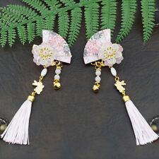 0317cef55 Chinese Style Fan Shape Hairpin Tassel Hair Pin Clip Charm Girls Hair  Accessory