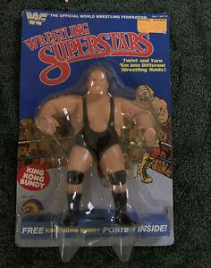 WWF Wrestling Superstars King Kong Bundy figure LJN 1985 With Poster #5400 New