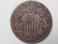 Better-Date 1872 US Shield Nickel (Dark).  #5