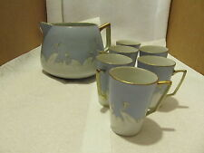 vintage hand painted nippon lemonade set with six cups