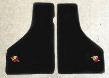 Autoteppich Fußmatten für Fiat 850 Spider Abarth Stick Nubukband Velours Neu 2tl