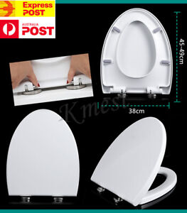 V Shape Thick Toilet Seat Soft Close Luxury White Heavy Duty Quick Release AU