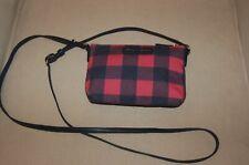 New Draper James Small Plaid Crossbody Body Bag Purse Nassau Navy & Pink
