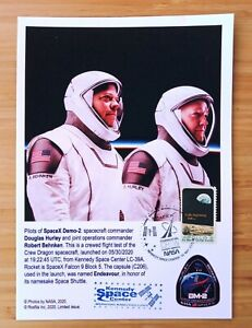 SpaceX Crew Dragon Demo-2 set of 3 A5-size cards FDC 30 May 2020 USA