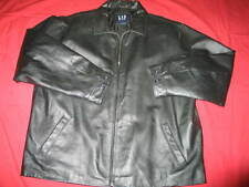 Gap XXL Black Leather Jacket Sports Coat Mens