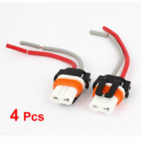 4 Pcs 9005 Wire Leads Harness Socket Adapter Connector for Car Headlamp