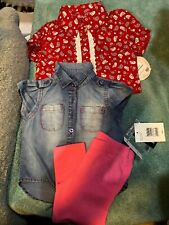 Baby Girl Size 18 Months Lot New Witn Tags 1 Outfit and 1 Shirt