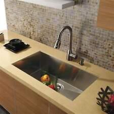 """30 """" Undermoun Stainless Steel Kitchen Sink Zero Radius - 16 Gauge - 10in. Depth"""