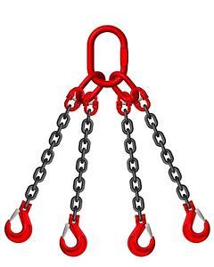 10mm 4 leg Lifting Chain Sling SWL 6.5 TON EWL 2M Clevis Sling Hook ID Cert
