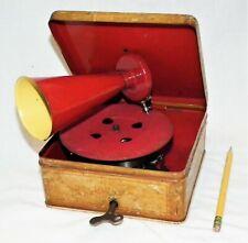 RARE VINTAGE SAPHON TABLE TOP PHONOGRAPH GRAMOPHONE 78 RPM SMALL RECORD PLAYER
