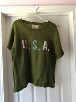 "WILDFOX WOMENS ""USA"" SWEATER SIZE MEDIUM"