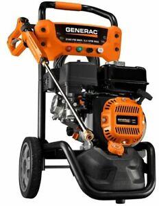Generac 3100psi Gas Powered Pressure Washer PowerDial Spray Gun Concrete Deck