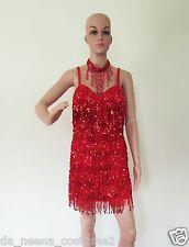 DA NEENA R7 Little Sexy Girl Latin Salsa Dance Pageant Sequin Dress M