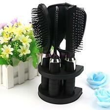1 Set Hair Dressing Suit Brush Mirror Comb Set Salon Hairdressing Curl Barber B•