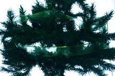 "Christmas Shiny Bright Green Ribbon Tree Decoration Garland 2.5"" 100 ft New"