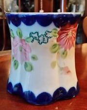 Antique Nippon Cobalt Porcelain Planter Jardiniere