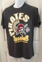 Pittsburg Pirates T-shirt Gray Medium MLB Baseball Sports 50/50 Cotton National