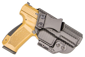IWB Concealed Carry CCW Kydex Holster with ModWing Claw - Right Hand - Carbon