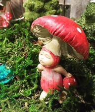 Miniature  Red Shroom Baby  4483 Dollhouse  Fairy Gnome Garden
