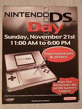 Nintendo DS Day **Release Poster** Counter Card Board Tournament EB Game Paper 3
