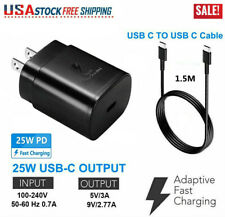 25W Pd Fast Charging Type-C Adapter Wall Plug + Dual Usb-C Cable for Samsung Lg