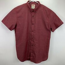 Levi's Mens Delmore Regular Fit Button Down Shirt Red XL