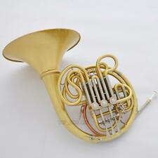 Professional Brushed Brass Double French Horn 103 Model Detachable Bell Newest