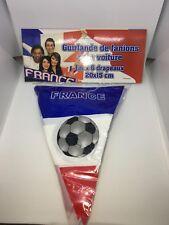 Guirlande de fanions française France foot drapeaux fête voiture ventouse