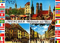 München , Weltstadt mit Herz ; Ansichtskarte gel.