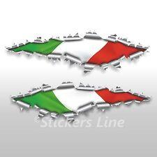 Adesivi bandiera ITALIANA strappo stickers cm 22