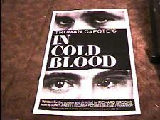 IN COLD BLOOD MOVIE POSTER '68 TRUMAN CAPOTE