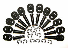 12 Tattoo Machine Black Step Down Stilt Coil Cores set Black Fiber washers 1 1/4