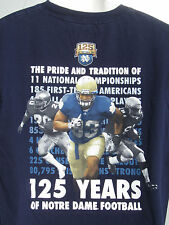 "2012 NOTRE DAME FOOTBALL ""Shake Down The Thunder"" Irish Tradition T shirt L NWOT"