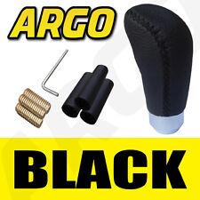 Cuero Negro Gear Shift Knob Stick Manual De Palanca De Cambios Selector de palanca de cambio del vehículo