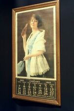 Antique 1923 Coca Cola Calendar with Coke bottle-Framed-RARE Collectors Piece