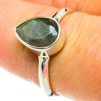 Labradorite 925 Sterling Silver Ring Size 8.25 Ana Co Jewelry R51628F