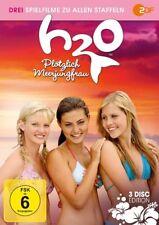 H2O PLÖTZLICH MEERJUNGFRAU-BOX - HEINE,CARIBA/TONKIN,PHOEBE+  3 DVD NEU
