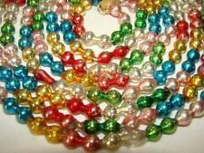 Old Petite Jewel Tone Christmas Feather Tree Mercury Glass Bead Garland #10